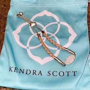 Kendra Scott Woven Bracelet Yellow Gold w White